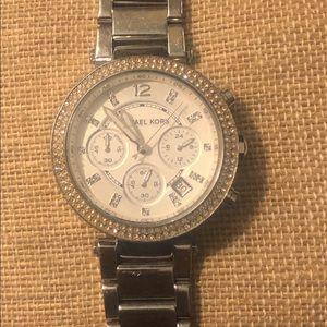 Silver Michael Kors watch.